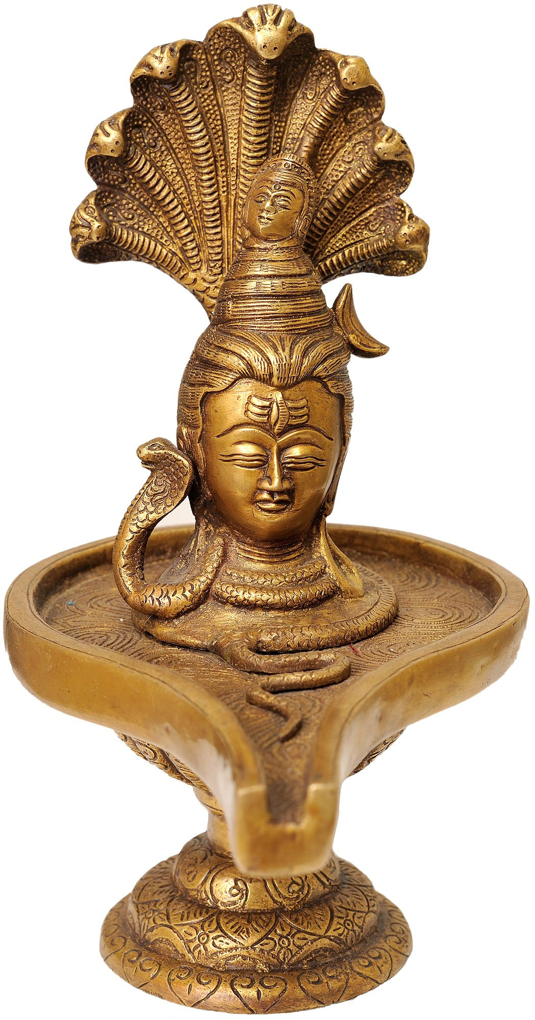 Lord Shiva Enshrined as Linga - Brass Statue