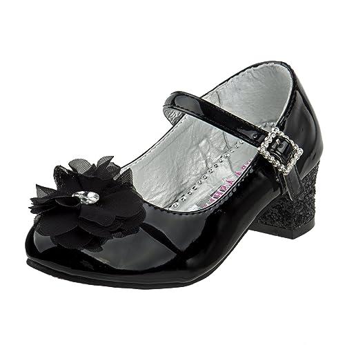 1d99fa0cec4 Laura Ashley Girls Mary Jane Mid Heel Dress Shoe, (Toddler, Little Kid, Big  Kid)