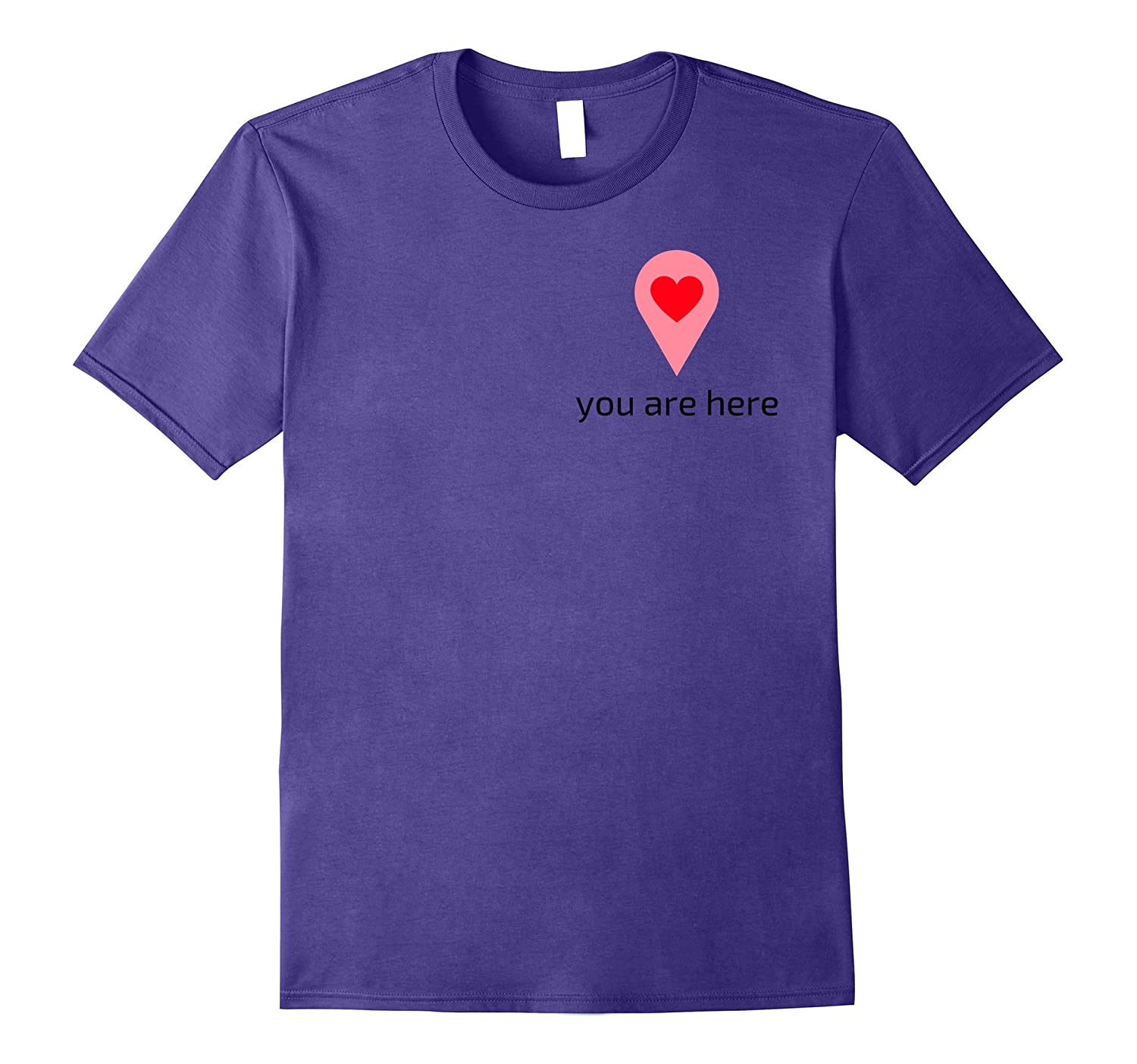 You Are In My Heart Love Geotag T-shirt-TH