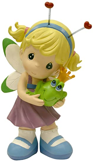 Precious Moments Design International Group Dragonfly Fairy With Frog Statue,  12 Inch