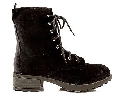 Women's Velvet Hiking Combat Boot
