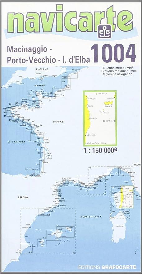Carte Marine Corse Est Cartes Navicarte Amazon Fr Sports Et Loisirs