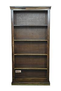 Meera Handicraft Sheesham Wood Iron Jali Bookcase/Bookshelf for Study Room | Provincial Teak Finish