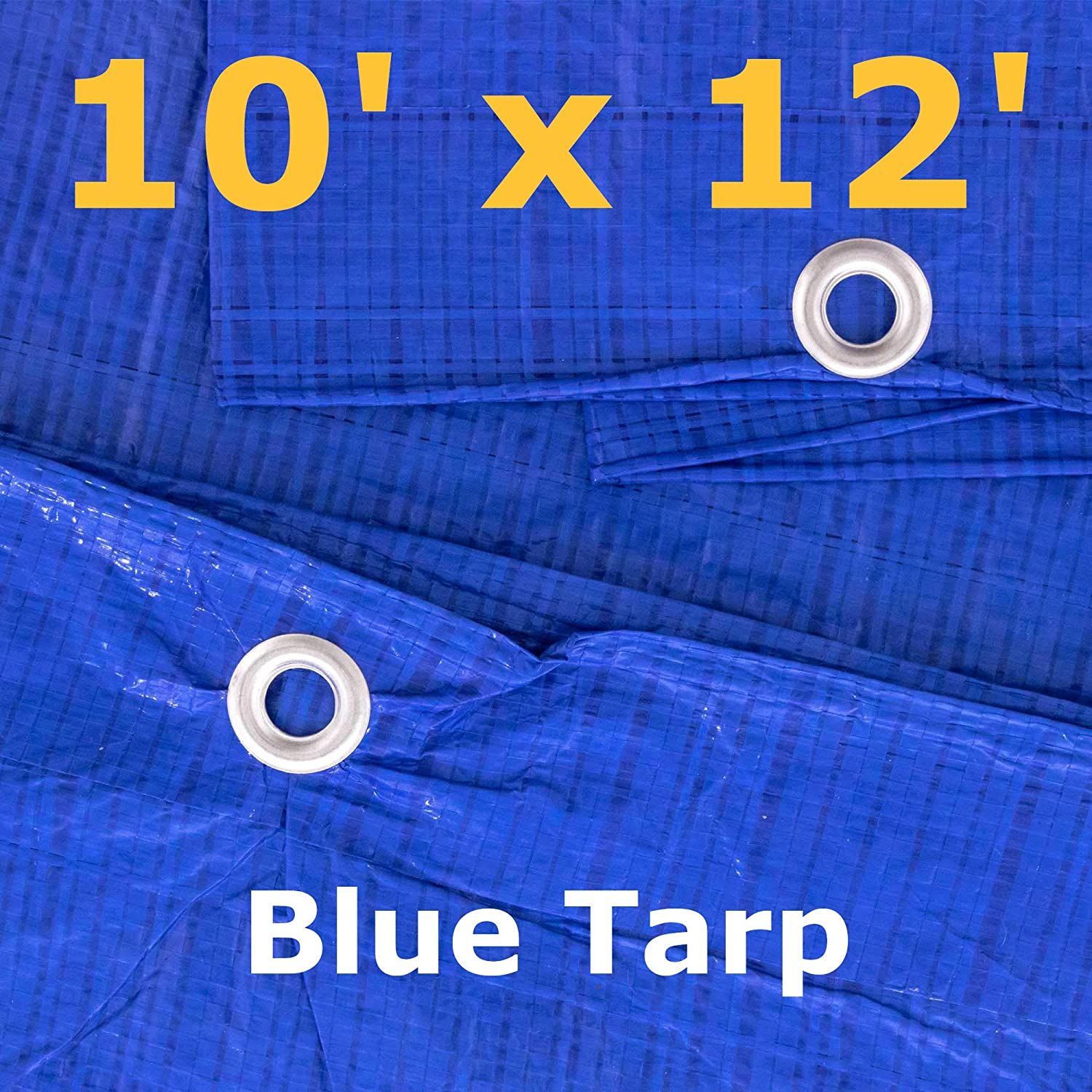 8/' x 10/' Blue Multi-Purpose Waterproof Poly Tarp Cover with Tent Shelter Camping Tarpaulin by West Coast Paracord