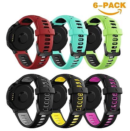 YaYuu Garmin Forerunner 735XT Correa de Reloj, Banda de Reemplazo Silicona Suave Sports Pulsera para Forerunner 735XT/235/220/230/620/630 Smart Watch