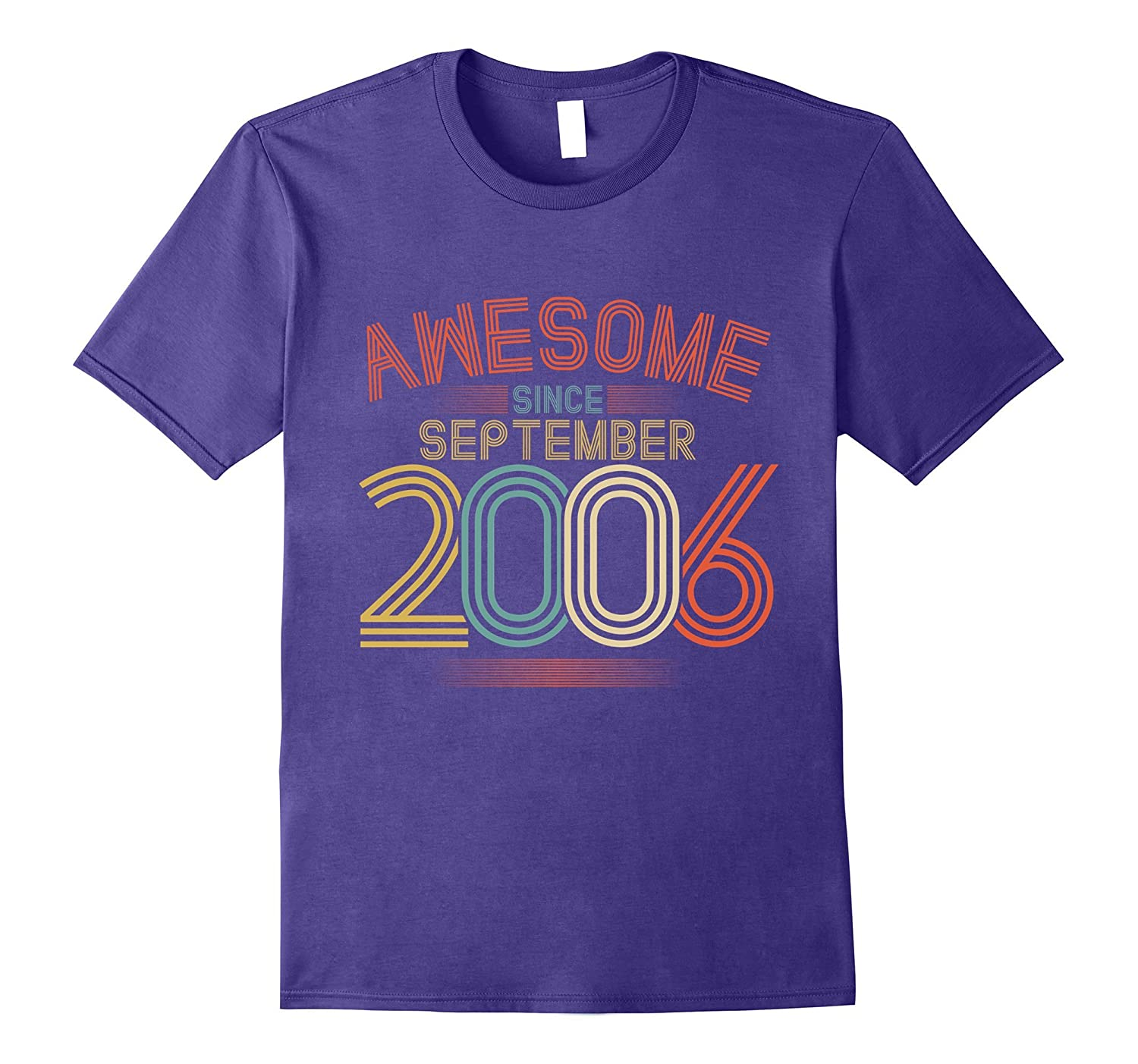 Awesome Since September 2006 Funny T-Shirt 11th Birthday Tee-4LVS