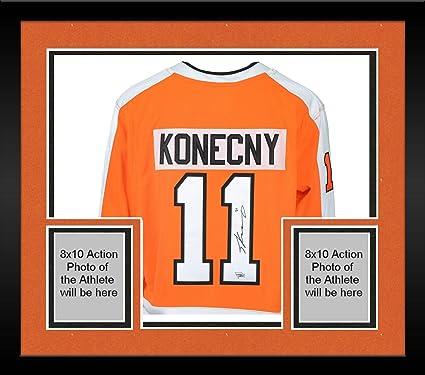 promo code 62c31 12d44 Framed Travis Konecny Philadelphia Flyers Autographed Orange ...