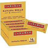 Larabar Banana Bread, Gluten Free Vegan Fruit & Nut Bar, 1.6 oz Bars, 16 Ct
