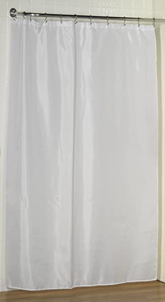Amazon.com: White, Water Repellent Fabric Shower Curtain Liner By ...