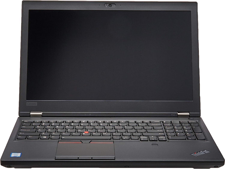 "Lenovo ThinkPad P52 (2018) 15.6"" Business Laptop: Intel Xeon E-2176M | NVIDIA QUADRO P2000 | 16GB RAM | 512GB SSD M.2 PCIe NVMe Opal2 | FingerPrint Reader | Windows 10 Pro 64-bit | 3-Year Warr"