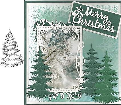 Christmas Tree DIY Metal Cutting Die Scrapbooking Embossing Card Making Stencil