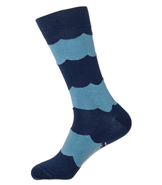 BAYRREL - Calcetines divertidos de algodón peinado para hombre y mujer - Modelo Ocean: Amazon.es: Ropa y accesorios