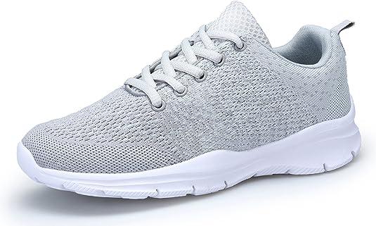 dafenp Unisex para Hombre y Mujer Zapatillas de Gimnasia Running ...