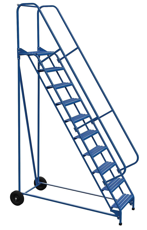 Vestil LAD-RAF-10-24-G - Escalera enrollable (plegable, 58 grados, 10 peldaños), color azul: Amazon.es: Amazon.es
