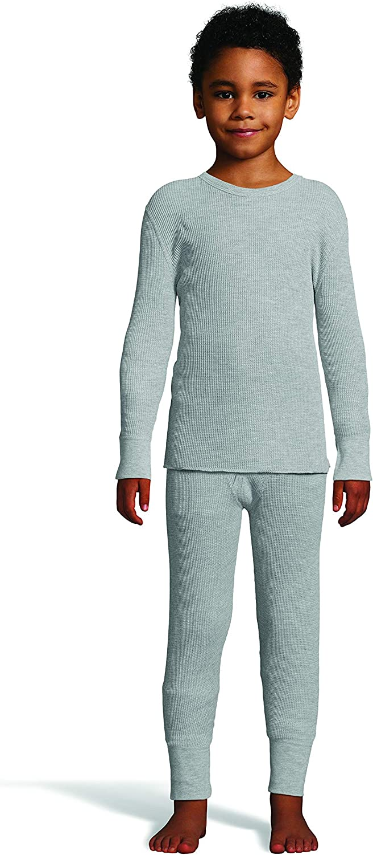 Hanes Boys Waffle Knit Thermal Set with FreshIQ X-Temp Technology /& Organic Cotton