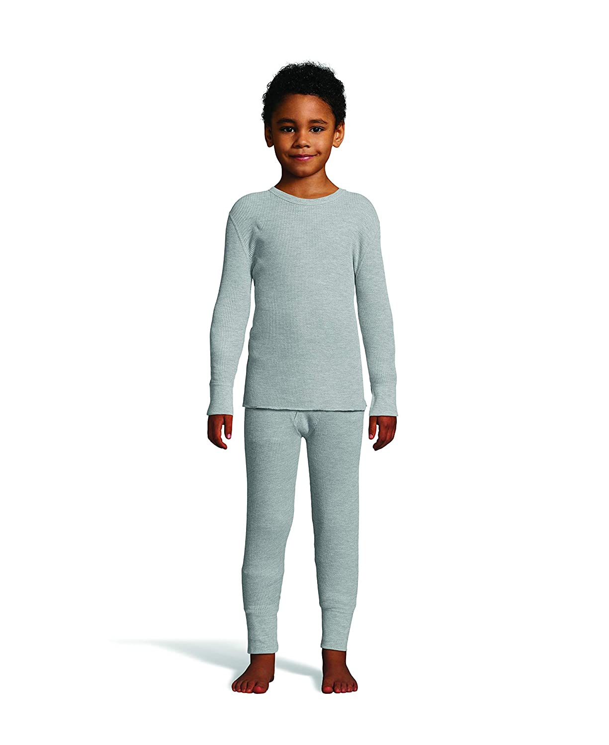 Hanes Boy's Waffle Knit Thermal Set with FreshIQ, X-Temp Technology & Organic Cotton