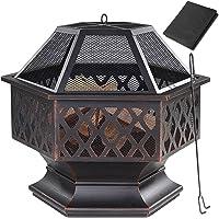 Gardebruk Brasero Exterior Hoguera Hexagonal Calentador Quemador Cubierta Protectora…