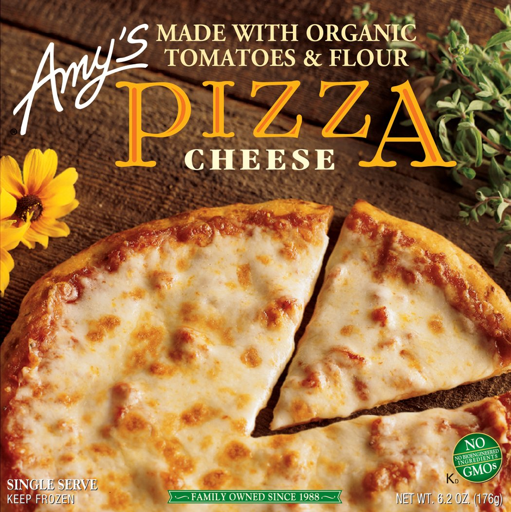 Amy's Cheese Pizza, Non GMO, Organic, 6.2-Ounce Boxes (Pack of 12)