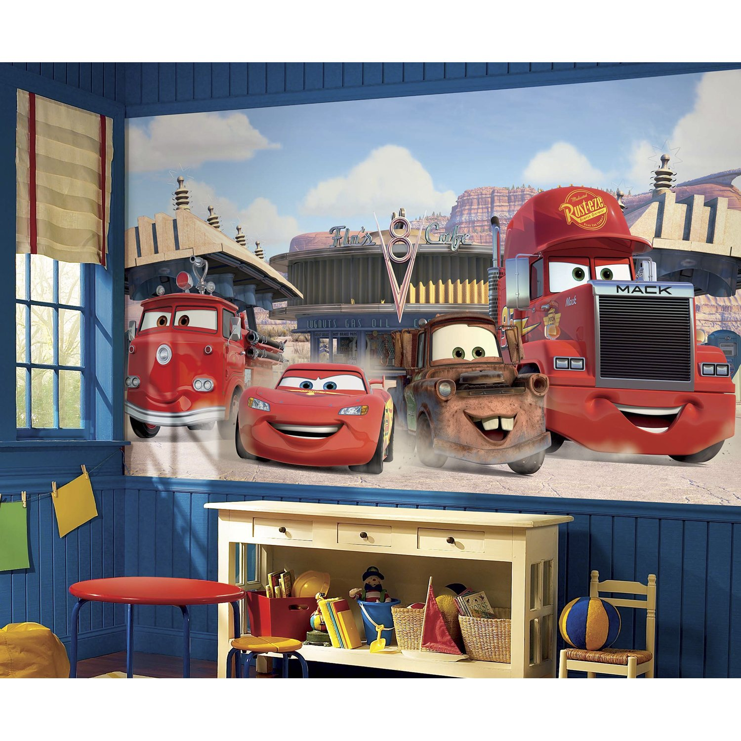 Roommates Disney Pixar Cars Friends To The Finish Prepasted