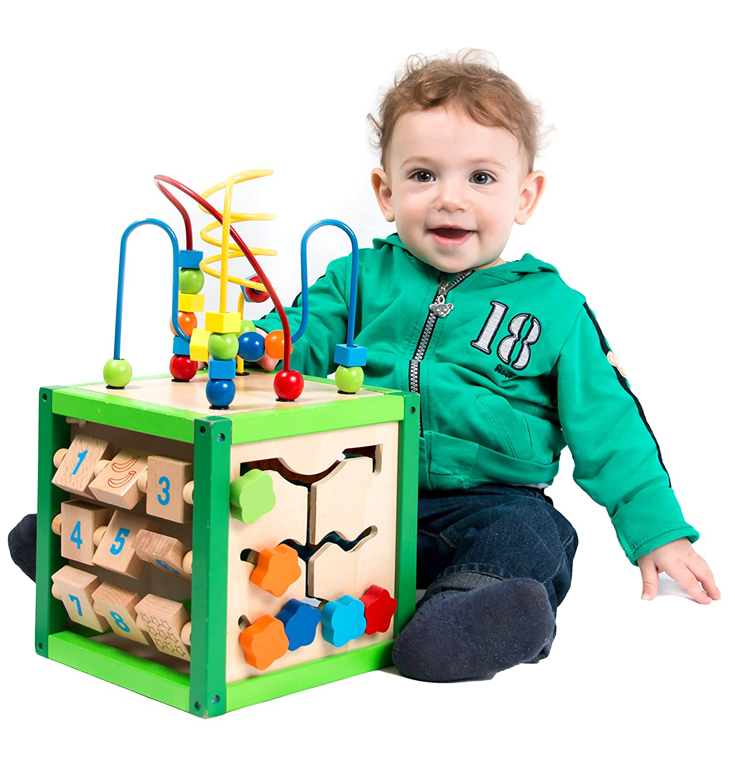 Amazon My First Learning Bead Maze Cube Activity Center by