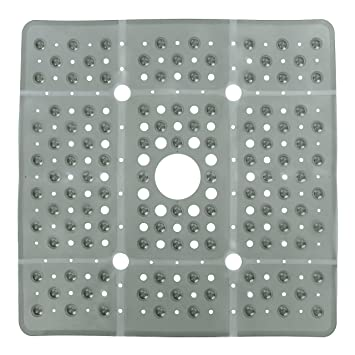 Amazon.com: Extra Large Square Shower Mat - Gray (65% Larger, 27\