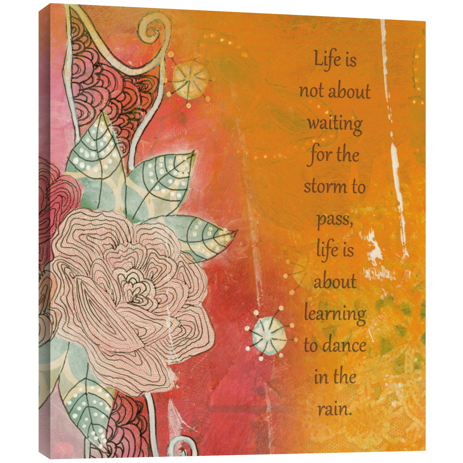 Tree-Free Greetings EcoArt Home Decor Wall Plaque, 11.25 x 11.25 Inches, Dance In The Rain Themed Inspriational Art (81154)