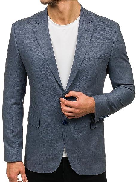 BOLF Hombre Chaqueta de Traje Americana Slim Fit Blazer Casual 4D4: Amazon.es: Ropa y accesorios
