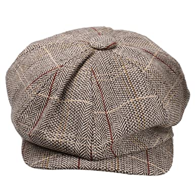 Generic Newsboy Cap Hat Flat Baker Boy Newsboy Gatsby Beret Cap for Men  Ladies - khaki 0cd26127f28f