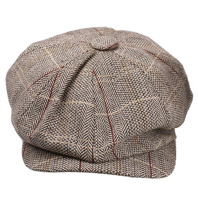 91a3fb6c2 Generic Newsboy Cap Hat Flat Baker Boy Newsboy Gatsby Beret Cap for Men  Ladies