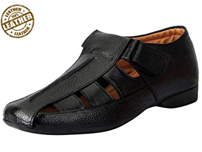 bb967c808545 FAUSTO Men s Leather Sandals  Buy Online at Low Prices in India ...