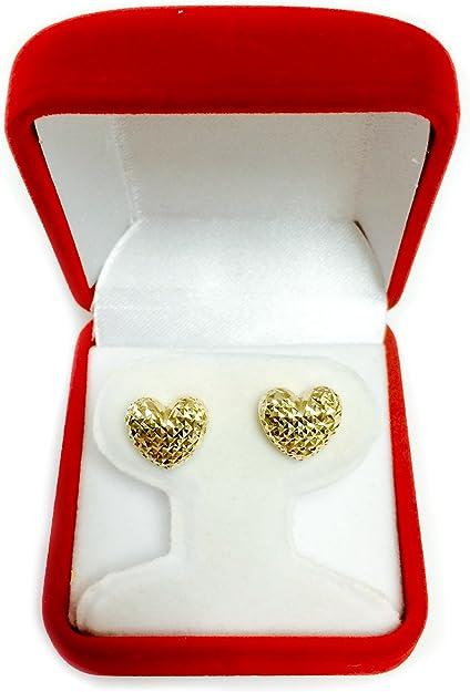 Heart Post Earring Matt Gold PlatedE3418-MG 2pcs