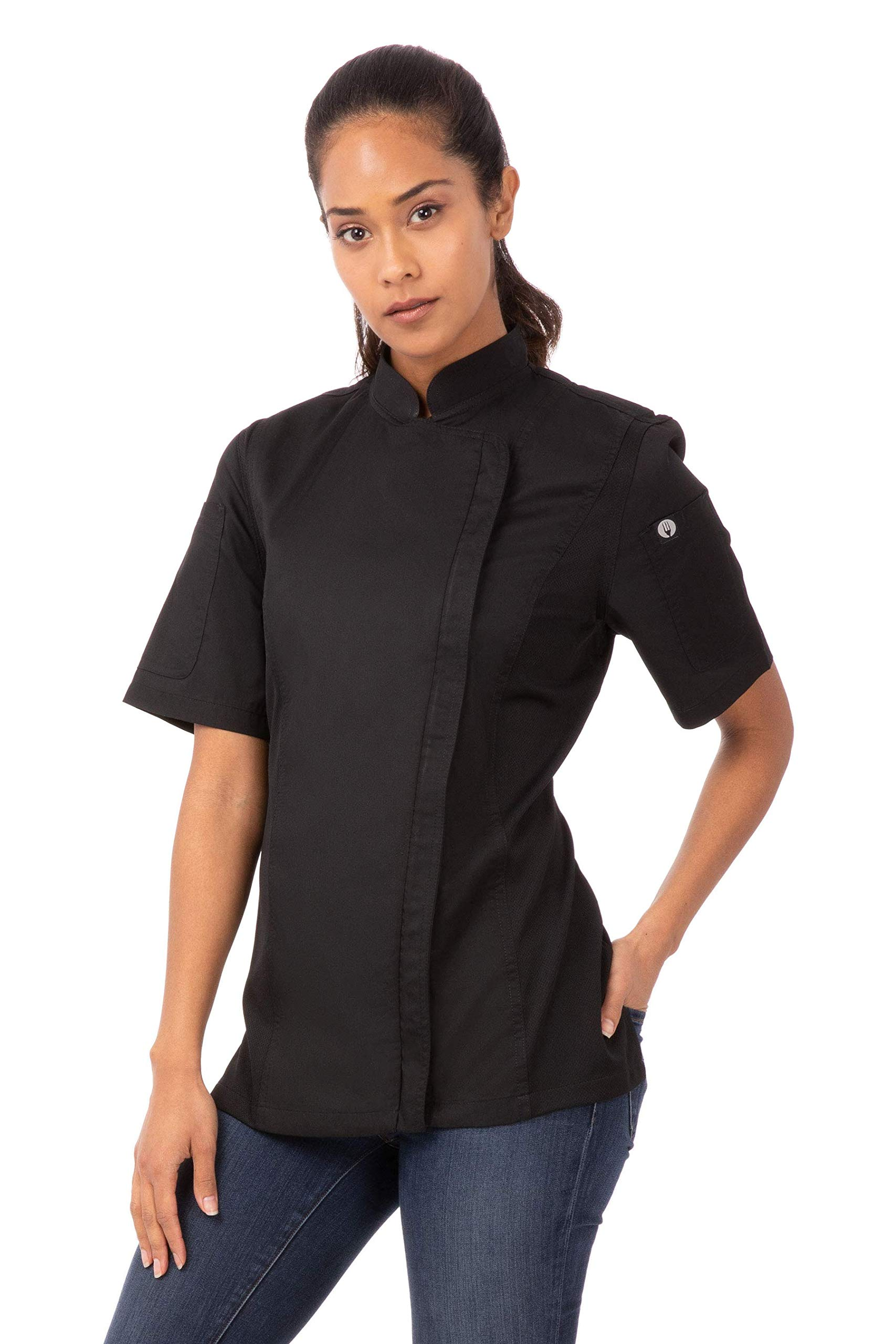 Chef Works Women's Springfield Chef Coat, Black, X-Small by Chef Works