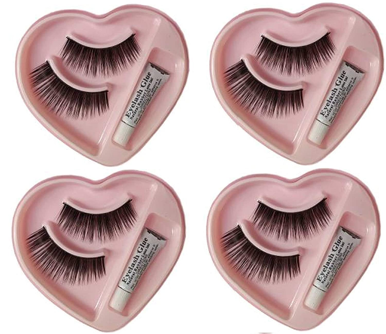 Buy Elecsera Black Long False Eyelashes With Glue For Pretty Eye