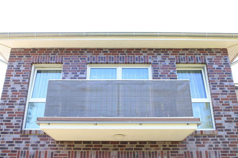 Antracite Smart decorazione per balcone, per balcone, protezione della privacy e protezione UV per balcone, giardino, camping e il tempo libero, Plastica, Anthrazit, 400x90cm Smart Deko