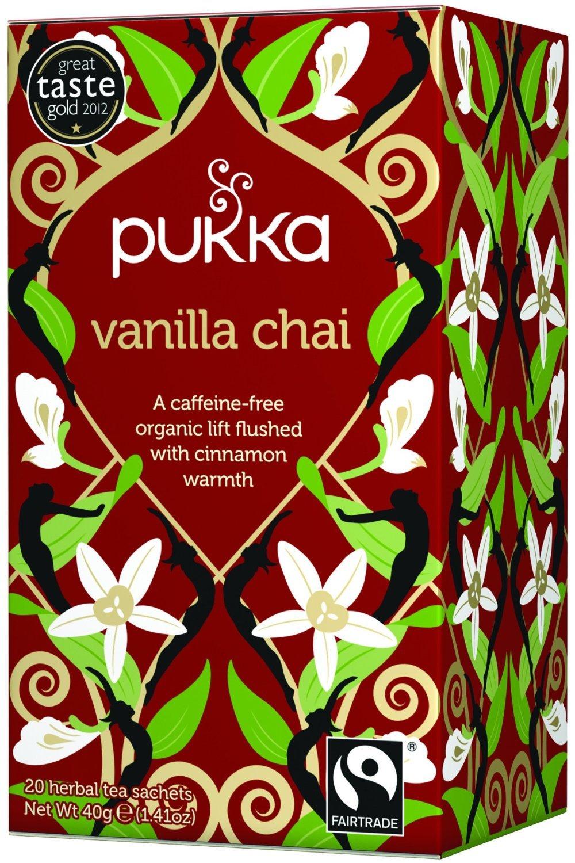 PUKKA HERBAL TEAS TEA,CHAI,OG2,VANILLA, 20 BAG