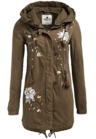 Damen parka oliv amazon