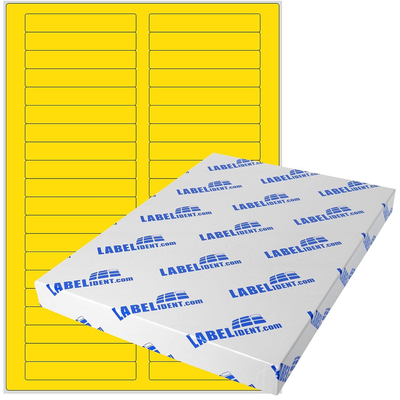 Labelident Etiketten - 85 x 14 mm, rechteckig - Gewebe (Nylon) weiß, matt, permanent haftend, 400 Aufkleber, DIN A4 Bogen, 10 Blatt B07BDMYPTW    | Zu einem erschwinglichen Preis