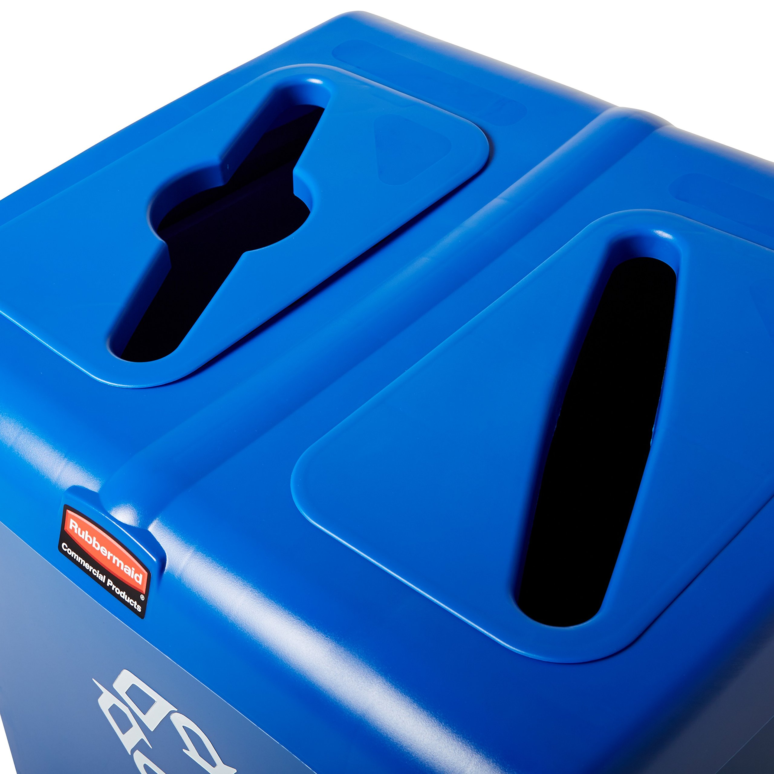 Rubbermaid Commercial 1792339 Glutton Recycling Station, 2-Stream, 46-Gallon, Blue by Rubbermaid Commercial Products (Image #8)
