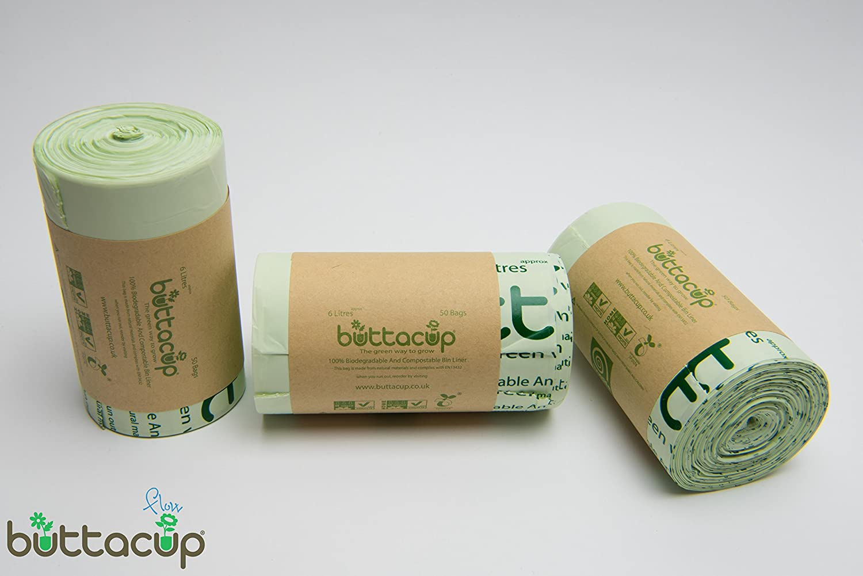 Buttacup 150 Bolsas x 6 litros Bolsas/Bolsas de Basura ...