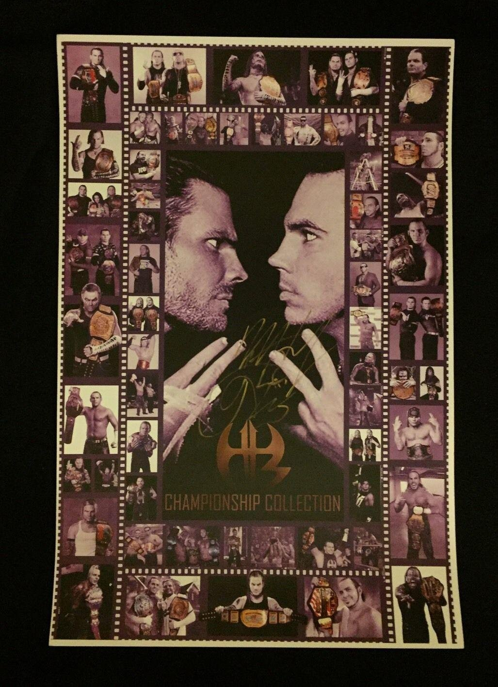 Wwe tna jeff hardy autographed 11x14 photo auto signed autograph - Hardy Boyz Matt Jeff Hardy Wwe Signed Custom 12x18 Photo Autographed Wrestling Photos At Amazon S Sports Collectibles Store