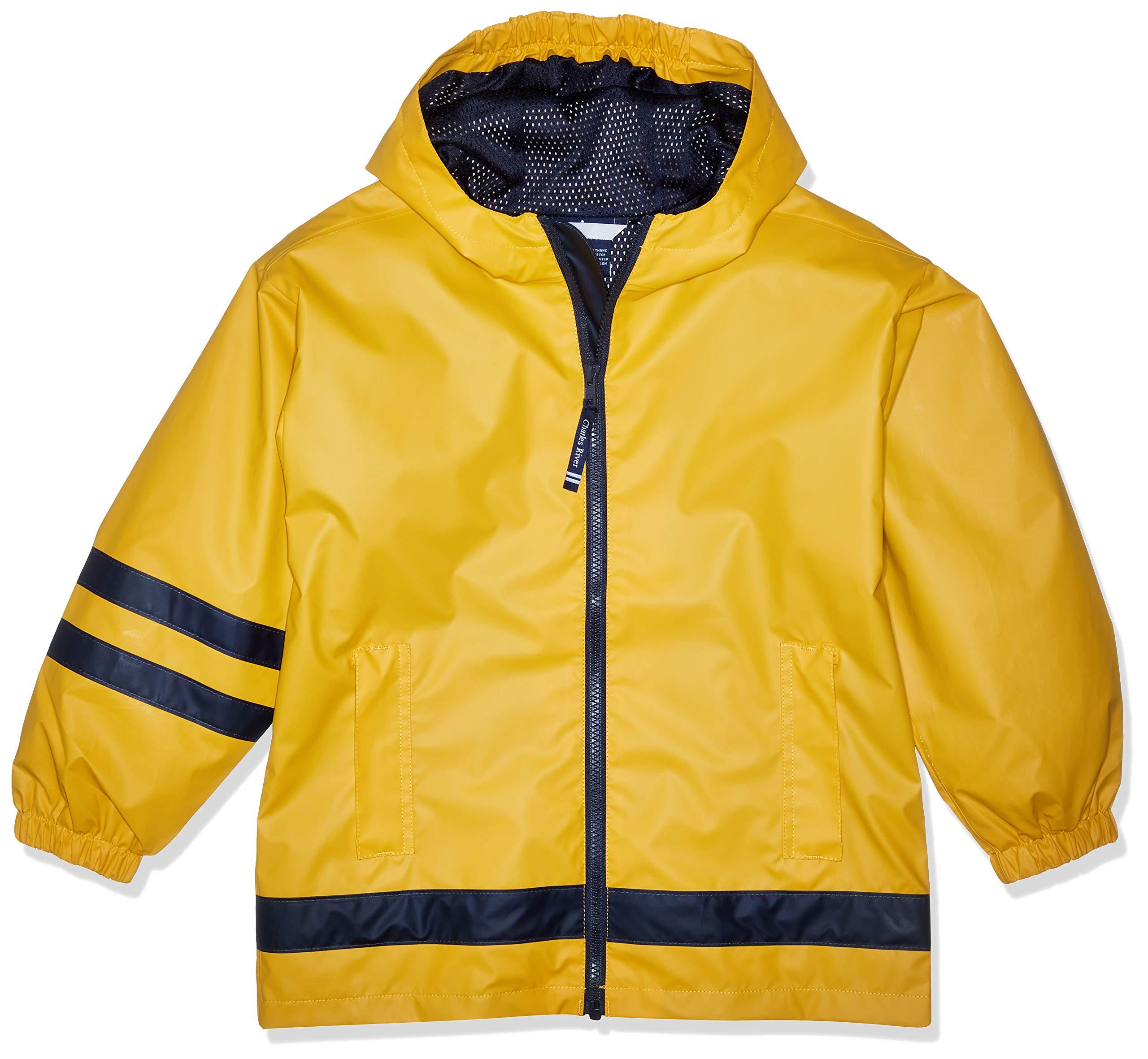 Charles River Apparel Kids' Big New Englander Rain Jacket, Yellow, L by Charles River Apparel