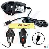 MOTOROLA Moto G - Universal Black Micro USB 3 Pin UK Home Wall Mains Travel Charger Plug Adapter BY SHUKAN®