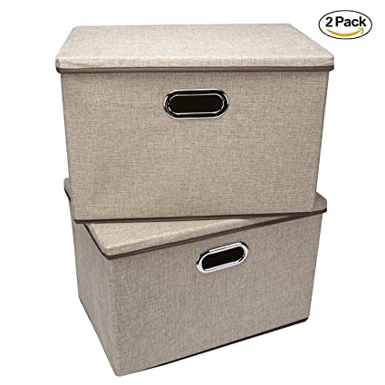 Storage Bins,Wecye Large Foldable Storage Containers With Removable Lid And  Handles,Storage Box