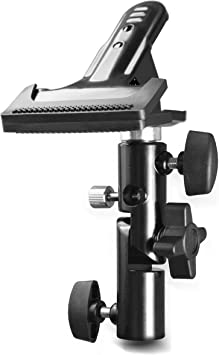 EMART Photo Video Studio Heavy Duty Metal Clamp Holder with 5//8 Light Stand Attachment and Umbrella Reflector Holder
