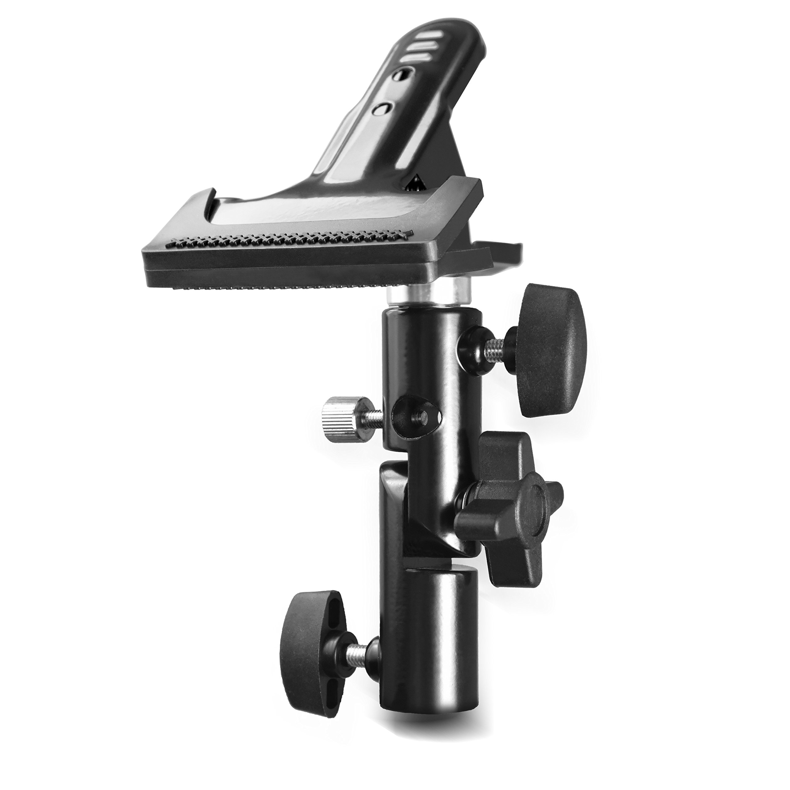 Slow Dolphin Photo Studio Heavy Duty Metal Clamp Holder with 5/8 Light Stand and Umbrella Reflector Holder by SLOW DOLPHIN