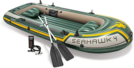 Intex 68351NP - Barca Hinchable Seahawk 4 con Remos 351 x 145 x 48 ...