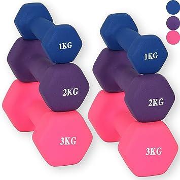 Pesas Lions de Neopreno, aeróbicos, para las manos, ejercicios, mancuernas de gimnasio