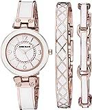 Anne Klein 女士施华洛世奇水晶点缀手镯手表和手链套装