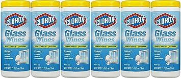 Clorox vidrio toallitas, radiante aroma limpio, 32 Count (paquete de 6 – 192