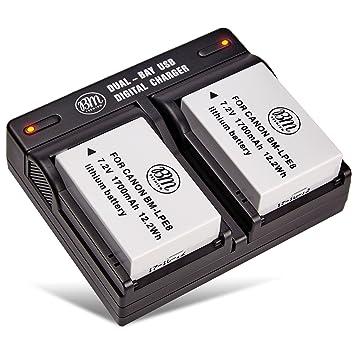 Amazon.com: Bm Premium 2-Pack de LP-E8 Baterías y cargador ...